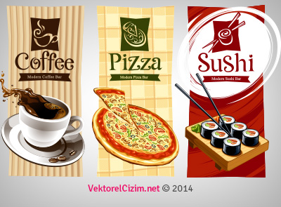 Cafe, Pizza, Restaurant Logo, Broşür