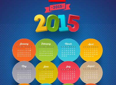 Renkli 2015 Takvimi
