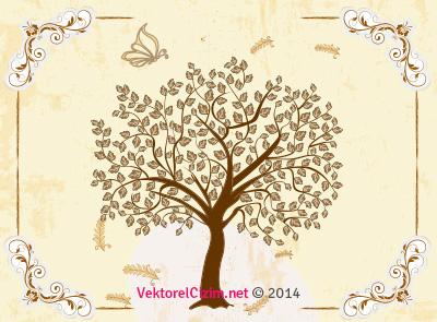 Çerçeve, Ağaç, Kelebek