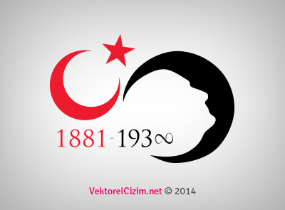 10 Kasım, Ay Yıldız ve Atatürk Silüeti
