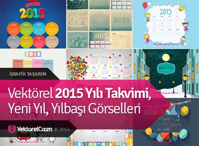 Vektörel 2015 Yılı Takvimi, Yılbaşı Görselleri