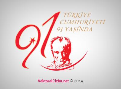 Türkiye Cumhuriyeti 91 Yaşında