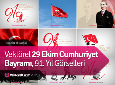 Vektörel 29 Ekim Cumhuriyet Bayramı Görselleri
