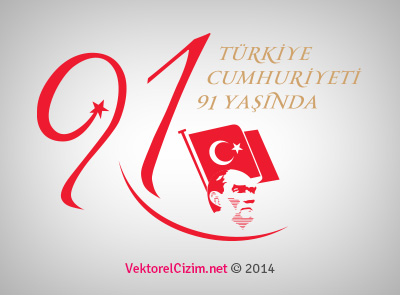 Türkiye Cumhuriyeti'nin 91. Yılı, Bayrak ve Atatürk
