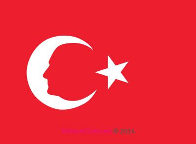 Türk Bayrağı'nda Atatürk Silüeti
